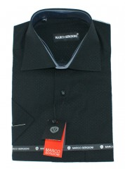 Marco Renzo r.u. férfi ing - Fekete Rövidujjú ing
