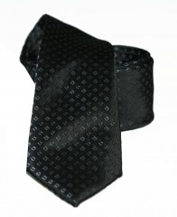 Goldenland slim nyakkendő - Fekete aprókockás Aprómintás nyakkendő