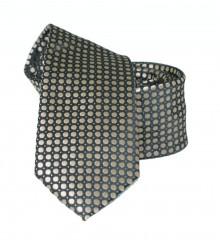 Goldenland slim nyakkendő - Arany pöttyös Aprómintás nyakkendő