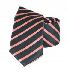 Goldenland slim nyakkendő - Lazac csíkos Csíkos nyakkendő
