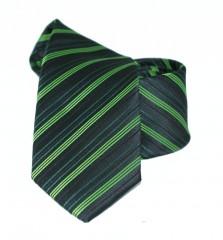 Goldenland slim nyakkendő - Zöld csíkos