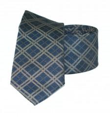 Goldenland slim nyakkendő - Kék kockás Kockás nyakkendők