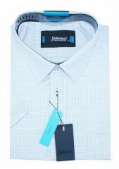 Goldenland extra rövidujjú ing - Kockás Extra méret