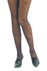 Patricie mintás 20 den harisnyanadrág - Fekete Női zokni, harisnya, pizsama