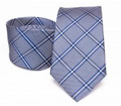 Prémium selyem nyakkendő - Kék kockás Selyem nyakkendők
