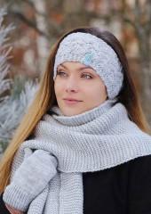 Téli kötött fejpánt Női kalap, sapka