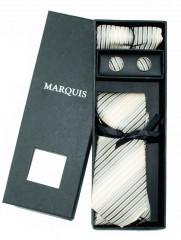 Marquis nyakkendő szett - Natur csíkos Nyakkendők