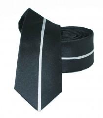 Slim nyakkendő - Fekete csíkos