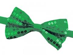 Flitteres csokornyakkendő - Zöld