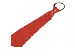Nyakkendő flitterekkel - Piros Női nyakkendők, csokornyakkendő