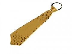 Nyakkendő flitterekkel - Arany Női nyakkendők, csokornyakkendő