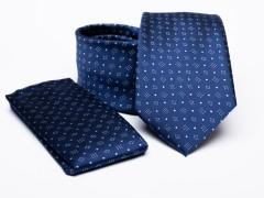 Prémium nyakkendő szett - Kék aprómintás Nyakkendő szettek