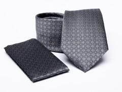 Prémium nyakkendő szett - Szürke aprómintás Nyakkendő szettek