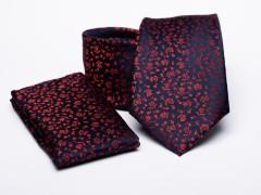 Prémium nyakkendő szett - Piros virágos Mintás nyakkendők