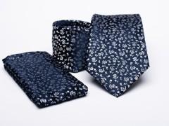 Prémium nyakkendő szett - Kék virágos Mintás nyakkendők