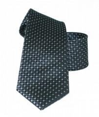Vincitore slim selyem nyakkendő - Fekete pöttyös Selyem nyakkendők