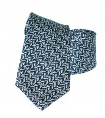 Vincitore slim selyem nyakkendő - Szürke mintás Selyem nyakkendők