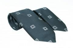 Szatén apa-fia nyakkendő szett - Fekete kockás Apa-fia szett