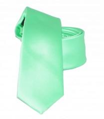 Slim nyakkendő - Lime szatén