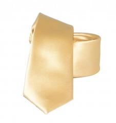 Slim szatén nyakkendő - Világos arany