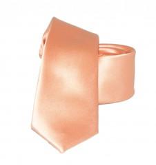 Slim szatén nyakkendő - Lazac