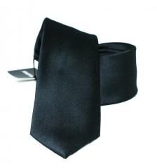 Newsmen gyerek nyakkendő - Fekete szatén Gyerek nyakkendők