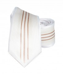 Goldenland slim nyakkendő - Natur csíkos