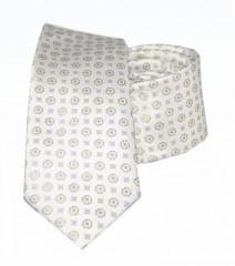 Goldenland slim nyakkendő - Natur aprómintás