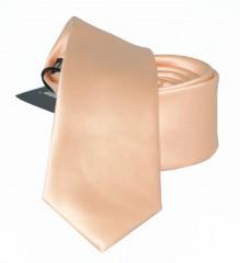 Slim szatén nyakkendő - Púder