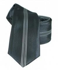 NM slim nyakkendő - Fekete csíkos