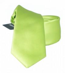 NM slim szatén nyakkendő - Limezöld