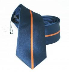 NM slim nyakkendő - Kék-narancs csíkos