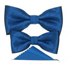 Apa-fia csokornyakkendő szett - Kék Csokornyakkendő