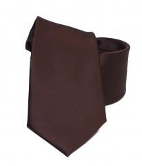 NM szatén nyakkendő - Sötétbarna Egyszínű nyakkendő