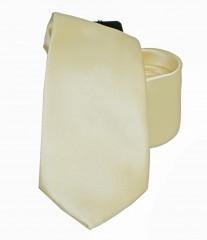 NM szatén nyakkendő - Pasztelsárga