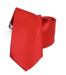 NM szatén nyakkendő - Piros Egyszínű nyakkendő