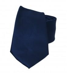 NM szatén nyakkendő - Sötétkék Egyszínű nyakkendő