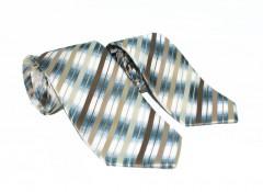NM apa-fia nyakkendő szett - Barna csíkos Apa-fia szett