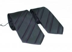 NM apa-fia nyakkendő szett - Fekete-lila csíkos Apa-fia szett