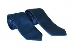 NM apa-fia nyakkendő szett - Sötétkék szatén Apa-fia szett