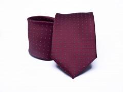 Prémium nyakkendő -  Bordó aprómintás Aprómintás nyakkendő