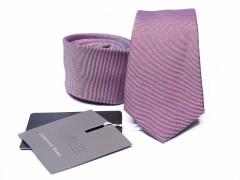 Prémium selyem slim nyakkendő - Lazacrózsaszín Selyem nyakkendők