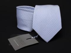 Prémium selyem nyakkendő - Halványkék aprómintás Aprómintás nyakkendő