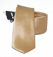 NM slim szatén nyakkendő - Arany Egyszínű nyakkendő
