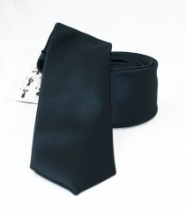 NM slim szatén nyakkendő - Fekete Egyszínű nyakkendő