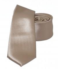 NM slim szatén nyakkendő - Aranybarna Egyszínű nyakkendő