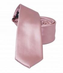 NM slim szatén nyakkendő - Lazacrózsaszín Egyszínű nyakkendő