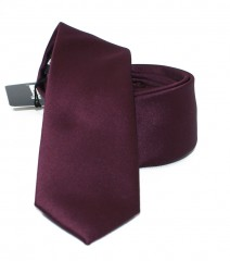 NM slim szatén nyakkendő - Burgundi Egyszínű nyakkendő