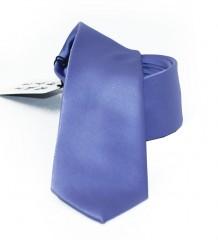 NM slim szatén nyakkendő - Kékeslila Egyszínű nyakkendő