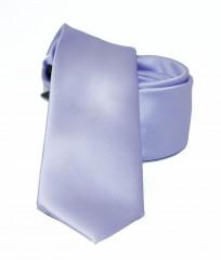 NM slim szatén nyakkendő - Halványlila Egyszínű nyakkendő